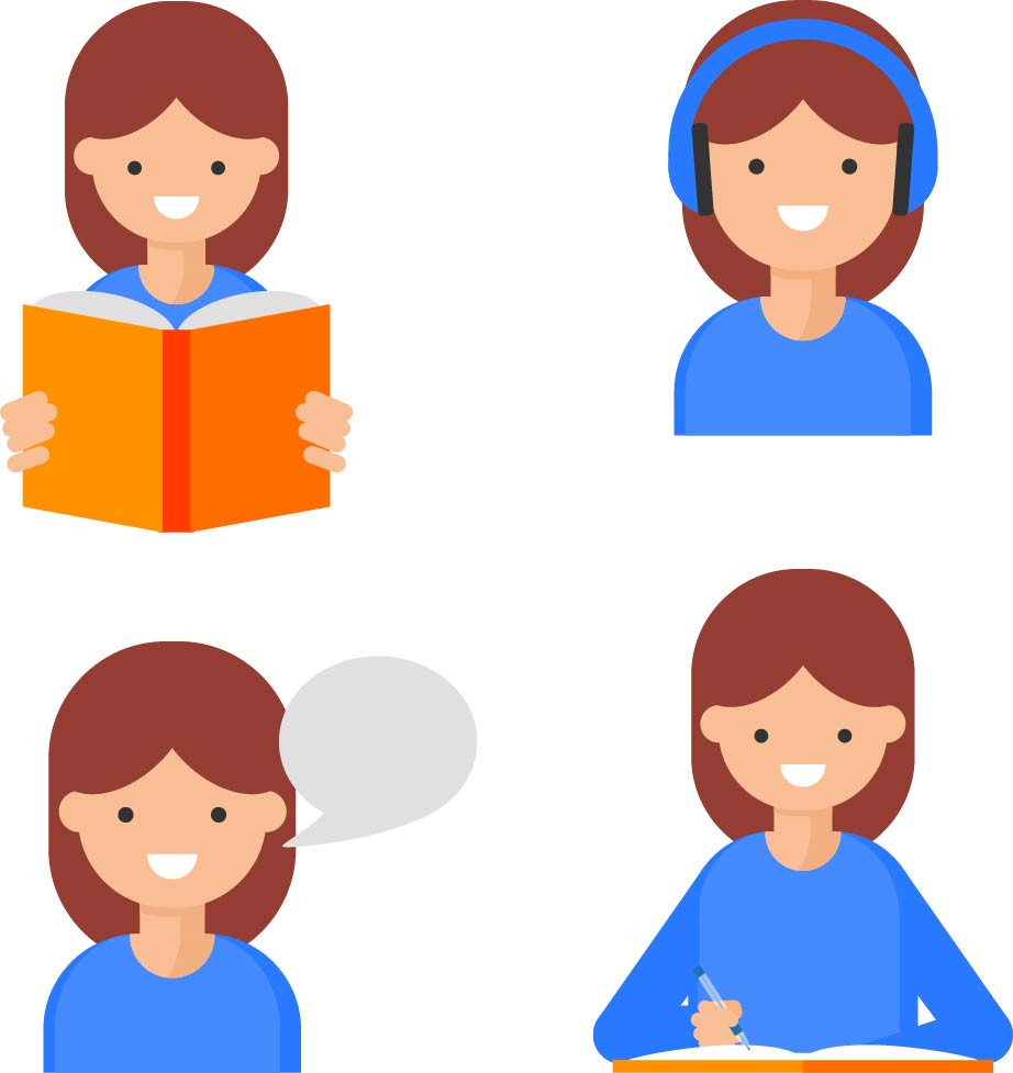 The four language skills.