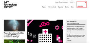 MIT Technology Review Webseite