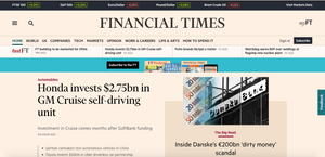 Financial Times Webseite