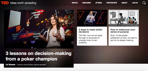 Ted Talk Webseite