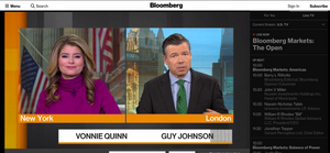 Bloomberg TV Webseite