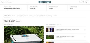 Kickstarter Webseite