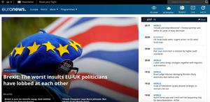 Euronews Webseite