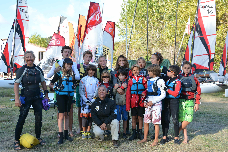 Les coureurs de l'équipe Mare e Vela