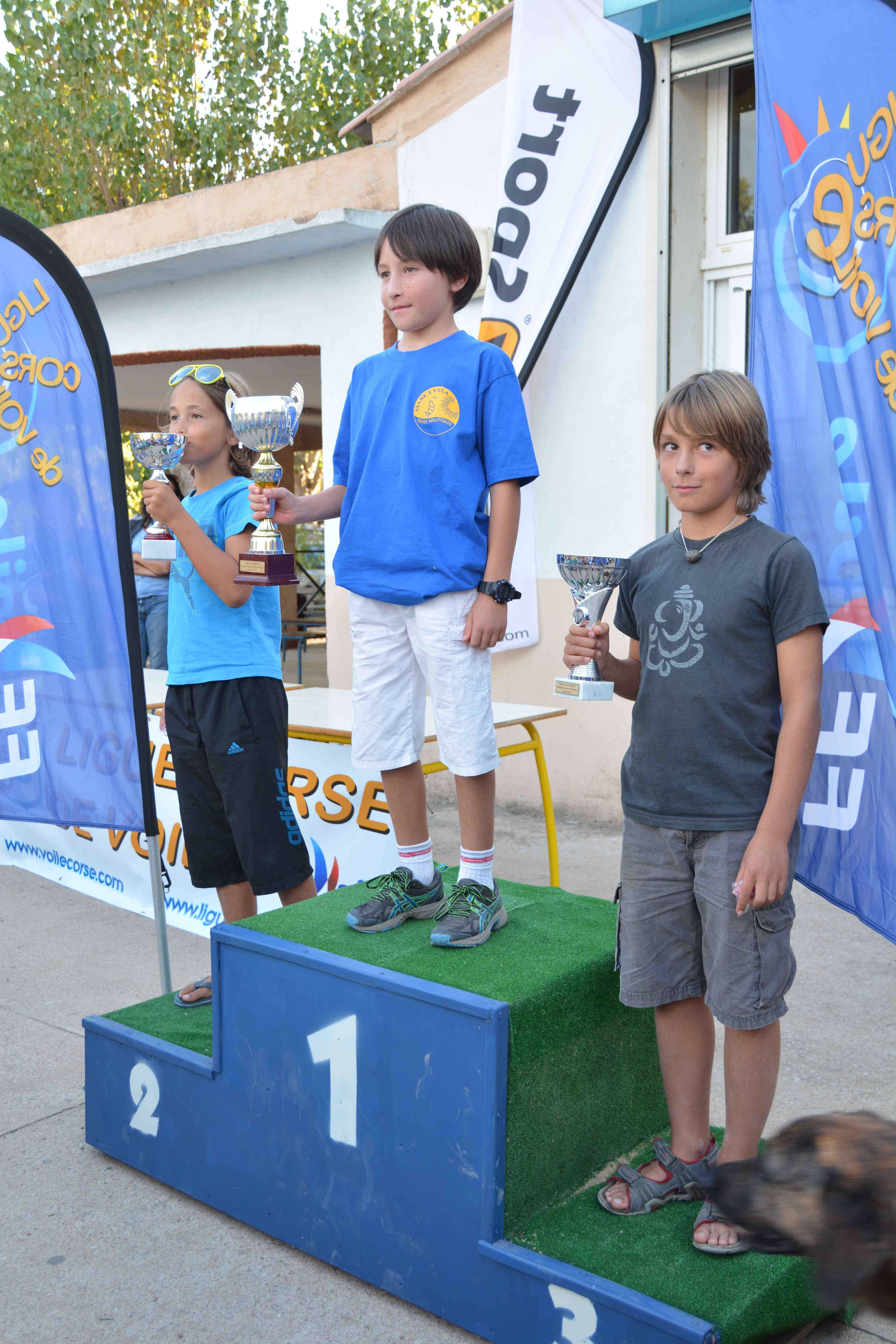 Podium optimist coupe d'automne