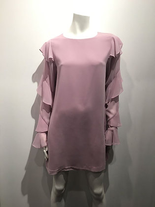 MARCIANO robe manches longues rose, S