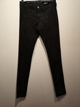 DESIGUAL jeans noir motifs cachemire - 26