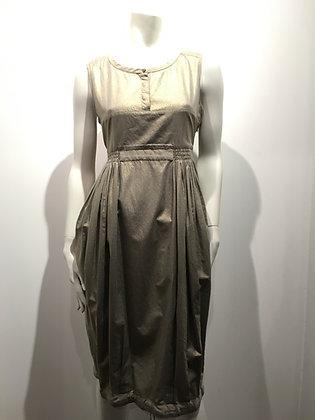 MAX MARA - Robe sable/doré - 10