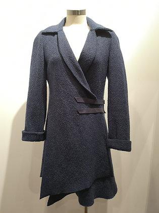 MARIE SAINT PIERRE - Manteau de laine bleu acier - S