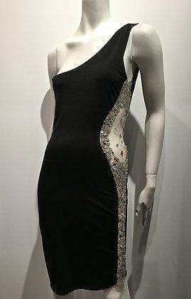 KARL LAGERFELD - Robe noire incrustée Swarovski - M