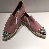 MIU MIU - Chaussures en suède rose - 38