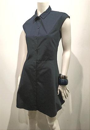 CARVEN - Robe de coton marine - 38