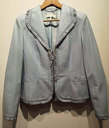 ESCADA - Veston cuir bleu ciel - 40