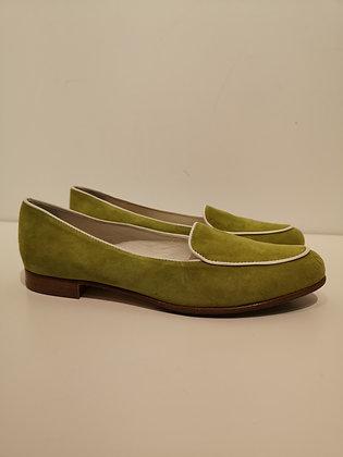 CAREL - Suède vert olive - 38 1/2