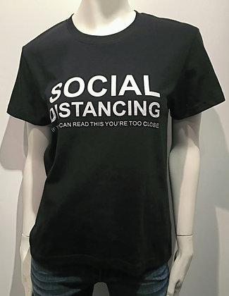 T-Shirt Social Distancing Noir/Blanc