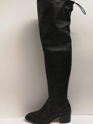 BCBG - Bottes hautes en tissus imitation cuir - 7 (37)