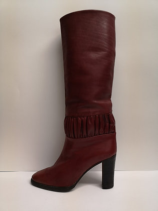 THE BAY - Bottes vintage cuir rouge - 8 1/2 (38.5)