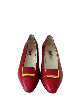 BALLY, cuir rouge, 9 1/2
