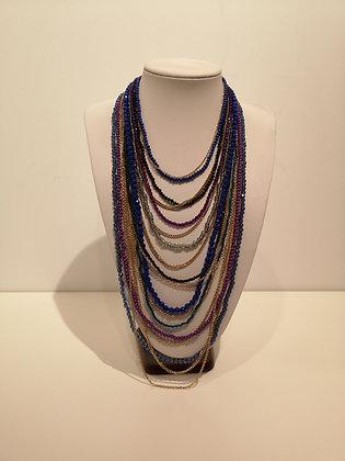 Collier perles et chaîne