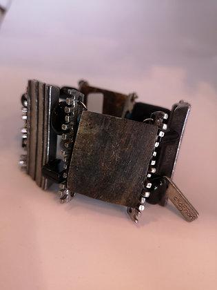 ANNE-MARIE CHAGNON - Bracelet acier et brun