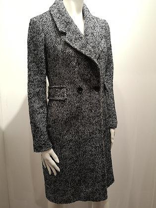 KARL LAGERFELD - Manteau motifs chevron - XS