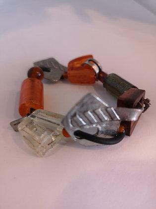 ANNE-MARIE CHAGNON - Bracelet fantaisie orange