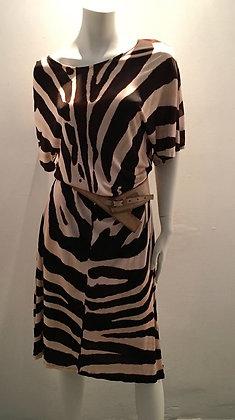 Robe Maryan Mehlhorn, motif zèbre (ceinture non incluse), M/L