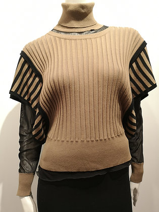 AVIATOR STYLE - Haut tricot en 2 pièces - maille et tricot - M/L