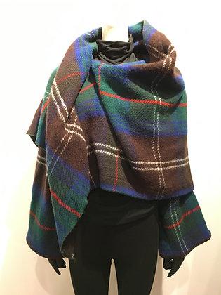 AZZEDINE ALAIA - Poncho laine avec manches
