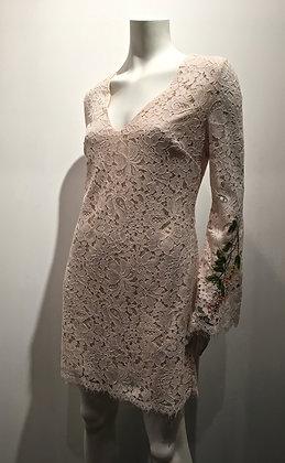 MARCIANO - Robe dentelle rose pâle - M