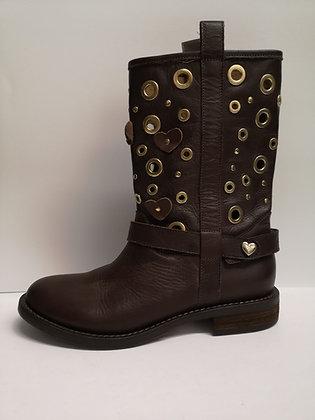 TWIN-SET - Bottes cuir brun - 39 (9)