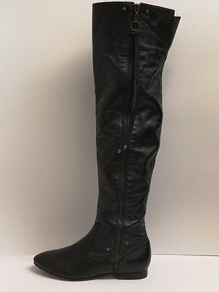 ALDO - Bottes cuir noir haute - 7 (37)