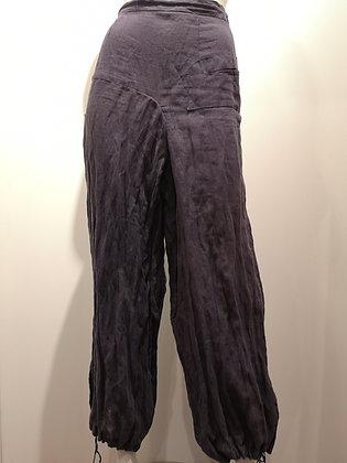 SARAH PACINI - Pantalon de lin mauve - XS