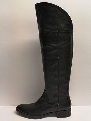 GEOX - Bottes cavalières cuir noir - 8 (38)