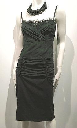 DOLCE GABANNA - Robe soie noire - 44