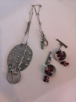 ANNE-MARIE CHAGNON - Collier métal avec colifichet