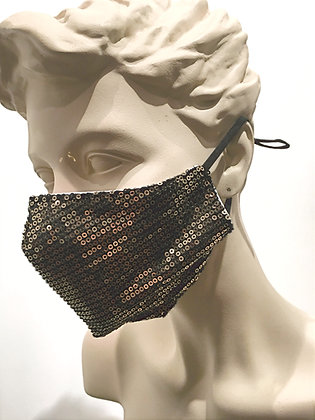 Masque paillettes dorées