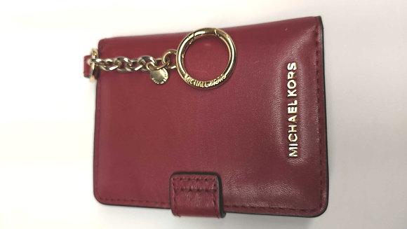 MICHAEL KORS, porte clés porte photos, cuir rouge