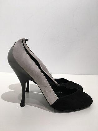 MIU-MIU - Suède gris/noir - 38