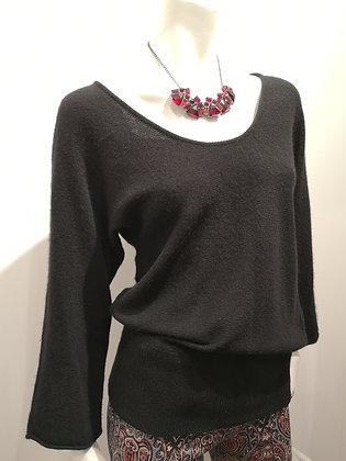 GENERRA - Haut tricot noir 100% cachemire - XS