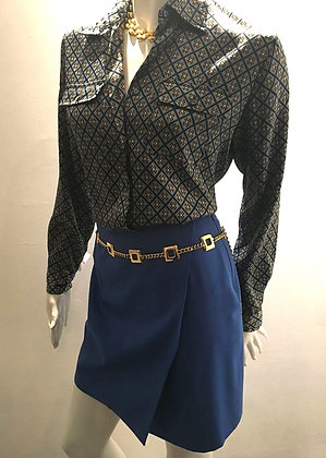 GIANNI VERSACE COUTURE - Jupe portefeuille courte - S