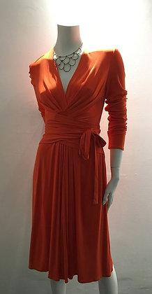 ISSA LONDON - Robe 100% soie orange
