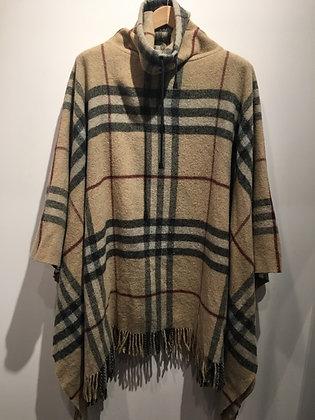 BURBERRY - Poncho 100% lambs wool