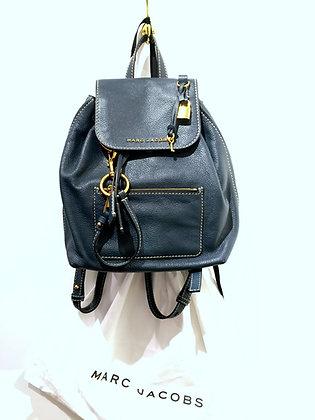 RALPH LAUREN, sac à dos cuir bleu
