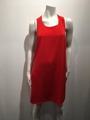 Petite robe rouge sans manches - M
