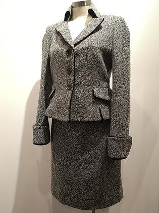 PINK TARTAN - Tailleur jupe gris - 8