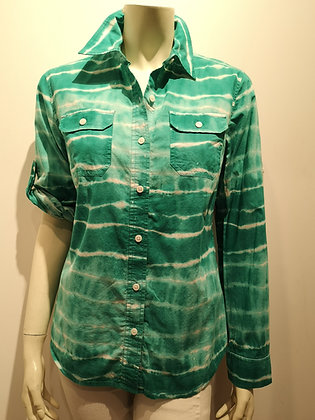 JONES NEW YORK chemisier tie-die turquoise, S