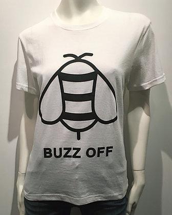 T-Shirt Buzz Off Blanc/Noir