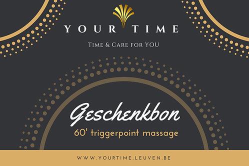 Geschenkbon voor 60' triggerpoint massage