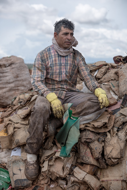 """""""I don't know how it's going to be,"""" said Nereu Bernardo Santos, 48, at the Estrutural dump in Brasilia, on Monday, Jan. 15, 2018. """"The government should compensate the people. We worked our whole life here."""" The income Mr. Santos earns from recycling at the Estrutural dump supports his wife, who is unemployed, their two daughters, and a house mortgage."""